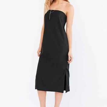 Silence + Noise Modern Strapless Midi Dress