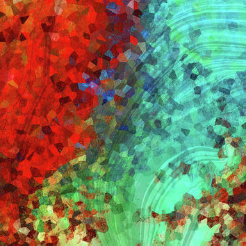 Colorful Abstract Art - Rejoice - Sharon Cummings
