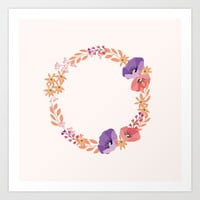 Wreath in Pink Art Print by Lena Photo Art