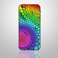 Colorful -- iPhone Back Cover Decal iPhone 5 Decals  iPhone 4S / iPhone 4 Decal Sticker Apple iPhone Vinyl Case Skin