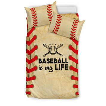Baseball is my Life Bedding Set