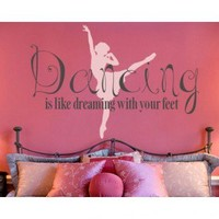 Alphabet Garden Designs Dancing is Dreaming Wall Decal - Child137 - All Wall Art - Wall Art & Coverings - Decor