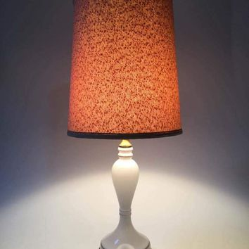 Vintage Ceramic and Bronze base table Lamp