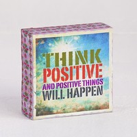 Think  Positive  Canvas  Keepsake    From  Natural  Life
