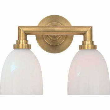 Visual Comfort and Company SL2842HAB-WG Antique Brass Wilton Double Bath Light