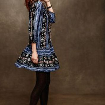 Winter Moon Tunic Dress by Holding Horses Blue Motif