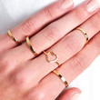 HEART SILHOUETTE RING SET - GOLD