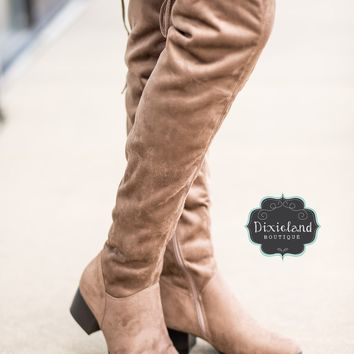 Harper Taupe Over The Knee Boots