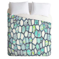 Ingrid Padilla Blue Cells Duvet Cover