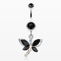 Dragonfly Glam Belly Ring