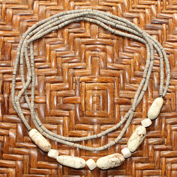Vintage Boho Hippie Natural Stone Beaded Necklace