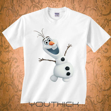 Olaf Frozen Smile tshirt, Personalizad Olaf Frozen Smile T shirt kids, Olaf Frozen Disney youth tshirt,  kids clothes, funny kids tshirt