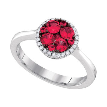 1-10Center Total Weight -Diamond 5-8(MIN)Carat RUBY RING