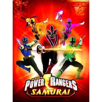 Power Rangers Samurai Movie Poster Standup 4inx6in