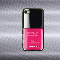 Iphone 4 case - Best channel Nail polish Rose  iphone 4s case rubber iphone case Iphone 5 case