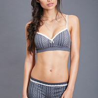 FOREVER 21 Lattice Print Knit Bralette