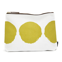 Luna Lime Canvas Pouch