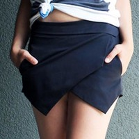 Asymmetrical Chiffon Short Skirt * free shipping *