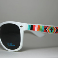 hand beaded sunglasses tribal print