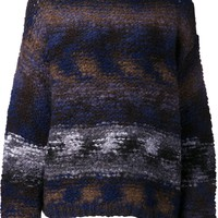Elizabeth And James space dye striped sweater