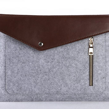 Pro Felt & Leather Laptop Case For Macbook