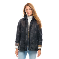 Barbour® Navy Beadnell Wax Jacket