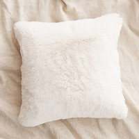Cream Faux Fur Cushion - Urban Outfitters