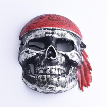 Halloween Mask Masquerade Full Face Skull Skeleton Costume Party Masks Scary face Mask Dress-up Pirate Accessory Decoration