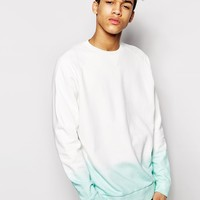 ASOS Oversized Sweatshirt With Dip Dye