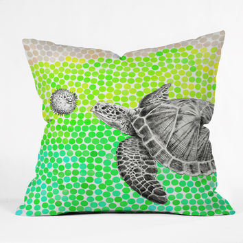 Garima Dhawan New Friends 1 Outdoor Throw Pillow