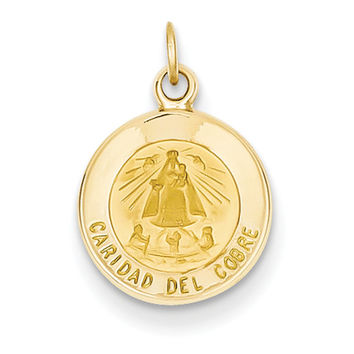14k Our Lady of Cuba Medal Charm XR663
