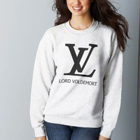 LV Lord Voldemort Harry Potter Crewneck Sweatshirt Size SMALL color White