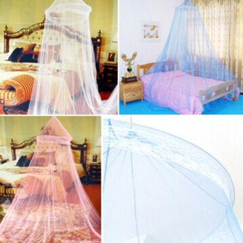 Hot 1pc Elegant Round Lace Insect Bed Canopy Netting Curtain Dome Mosquito Net Worldwide Free Shipping