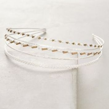 Tibetica Headband by Anthropologie in Silver Size: One Size Hair