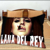 """Lana Del Ray - 20 """" x 30 """" inch,Pillow Case and Pillow Cover."""