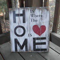 Home is where the heart is wood primitive sign, subway art, topography, wall hanging