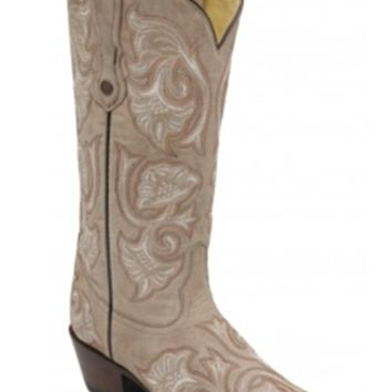 Corral Bone Floral Full Stitch Boot