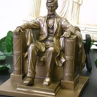 Abraham Lincoln Seated Statue American US President 8H