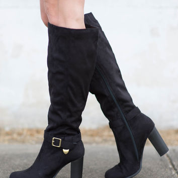 High-Stepper Sueded Knee Boot
