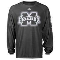 adidas Mississippi State Bulldogs Sideline Elude Performance Long Sleeve T-Shirt - Charcoal