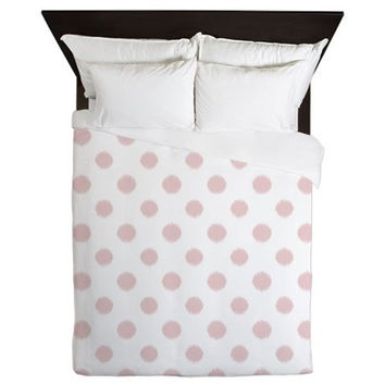 Pink Duvet Cover - Pink Polka Dots - Teen Bedding - Girls Bedding - Dorm Bedding - Teen Decor - Girls Decor - Pink Bedding - Girls Bedding