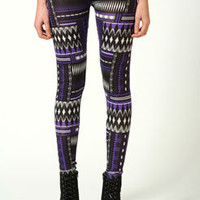 Caitlin Geometric Print Leggings