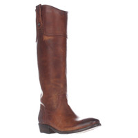 FRYE Carson Riding Button Western Tall Boots, Cognac, 5.5 US
