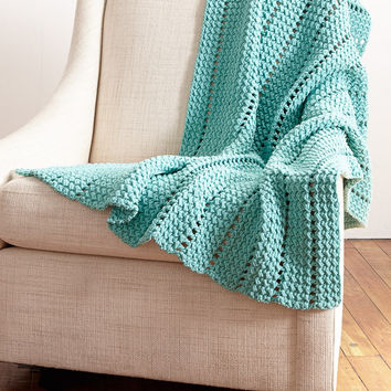 Crochet Kit to Make Bernat Crochet Pattern Eyelet and Textures Afghan