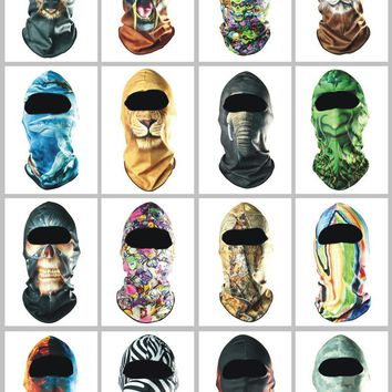 3D Animal Balaclava Full Face Mask Windproof Motorcycle Military Army Tactical Bicycle Snowboard Halloween Party Winter Helmet