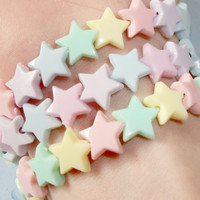 Set of 3 Mermaid Pastel Stars Fairy Kei Kandi Bracelets