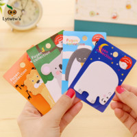 1 Piece Lytwtw's New Cute Kawaii Animal Sticky Notes Creative Post it Notepad Filofax Memo Pad Office Supplies School Stationery