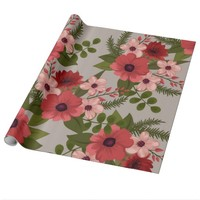 Beautiful Orange Flowers Wrapping Paper