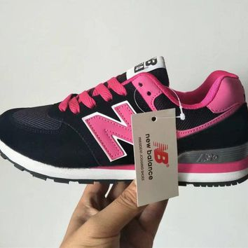 new balance 574 women sport casual multicolor n words sneakers running shoes-4