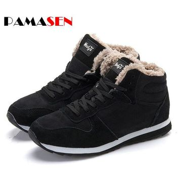 2016 Fashion Men Women Winter Snow Boots keep Warm Boots Plush Ankle boot Snow Work Sh